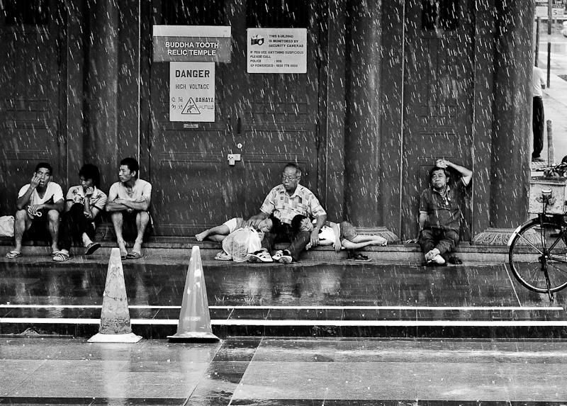 Sleeping in the rain