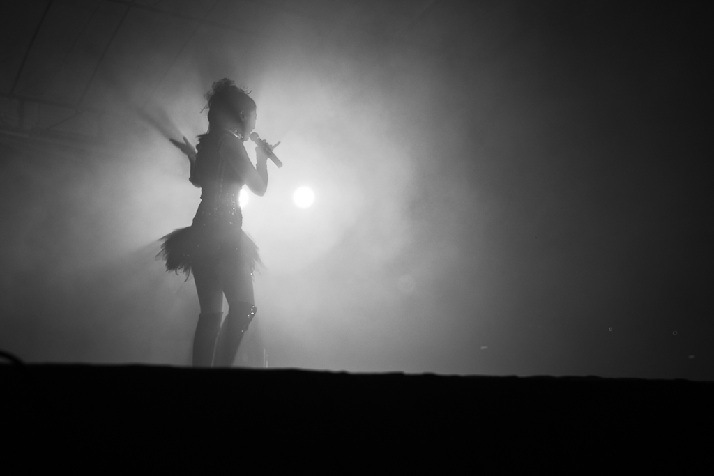 Singing Girl in Mist